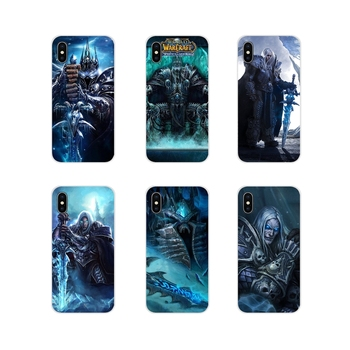 World of Warcraft lich king Stormrage For Apple iPhone X XR XS MAX 4 4S 5 5S 5C SE 6 6S 7 8 Plus ipod touch 5 6 Phone Skin Cover image