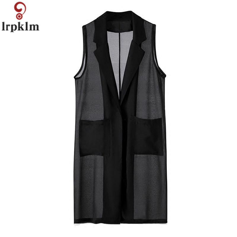 ⃝Summer Chiffon Sleeveless Vest Women's 2018 New Loose Solid ...