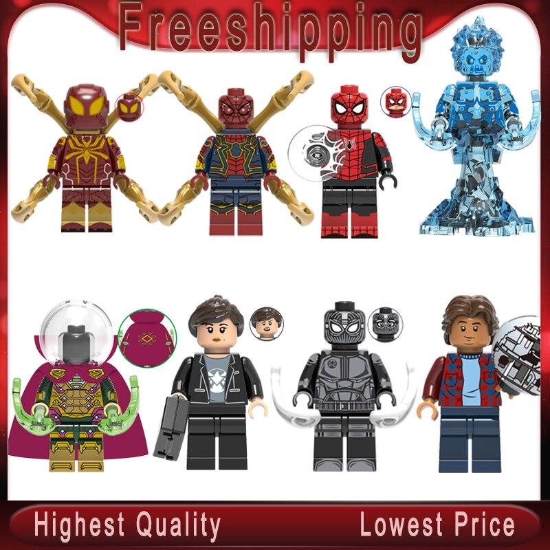 Legoed, далеко от дома, Человек-паук, фигурка загадочного Человека-паука, Марии Хил, гидро-человек, Ned-Liz, Человек-паук, строительный блок, детские...
