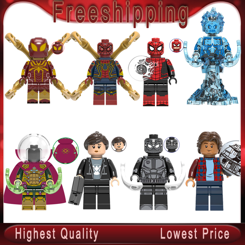 Far From Home Spider-Man Figure Mysterio Spider Man Maria Hill Hydro-Man Ned-Liz Spiderman Building Block Kid Toys X0266