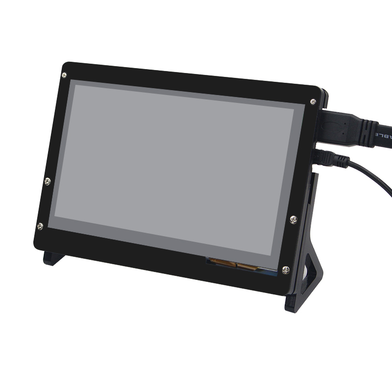 7 inch Raspberry Pi 3 LCD Display Touch Screen LCD 1024*600 HDMI TFT Monitor + Acrylic Case Compatible with RPI 2/B+ 3 5 inch touch screen tft lcd 320 480 designed for raspberry pi rpi 2