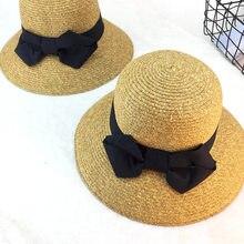 8pcs lot 01806-duxiao4180 solid wind brim bowknot straw paper lady leisure  cap women bucket hat wholesale 374c51d0410f