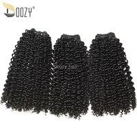Doozy Afro Kinky Curly Super Double Drawn 3 Bundles Funmi Virgin Peruvian Human Hair Weave