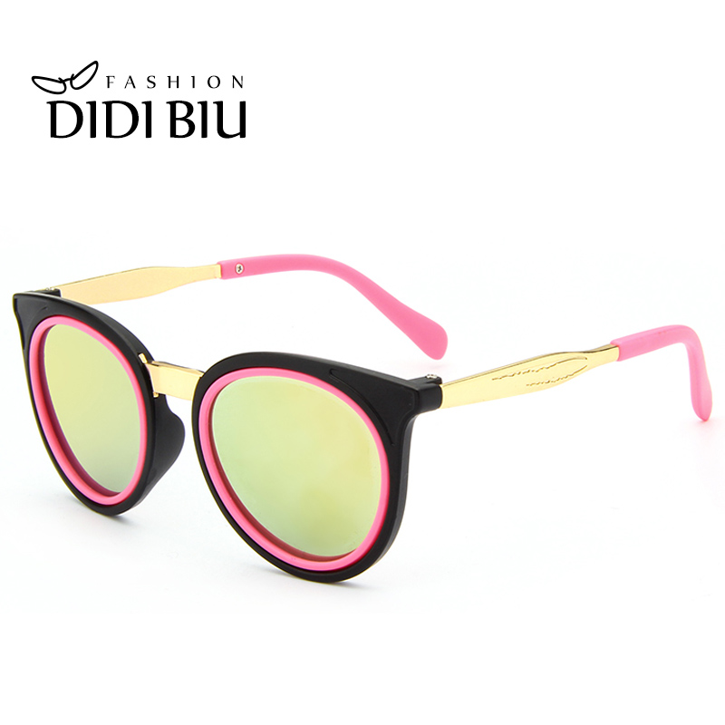 ee6a12aa45 DIDI Cute Round Children Sunglasses For Kids Girls Boys Alloy Pink Glasses  Circle Lens Coating Luxury