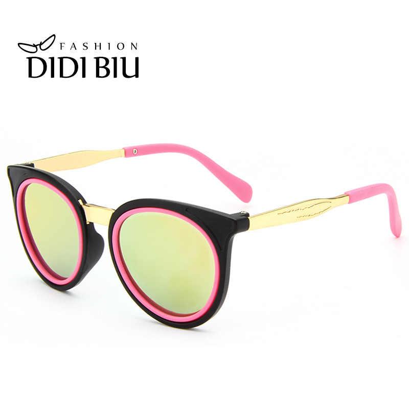 0e9452f2ea80 DIDI Cute Round Children Sunglasses For Kids Girls Boys Alloy Pink Glasses  Circle Lens Coating Luxury