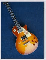 OEM Guitars 1959 R9 AAA Best Tiger Fire Lp Standard Electric Guitar Free Shipping