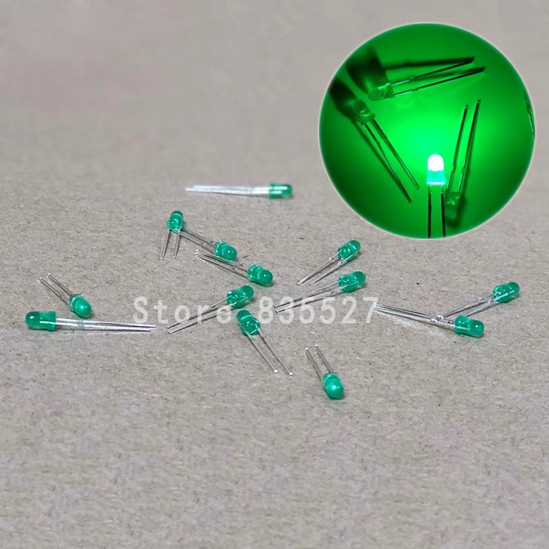 100pcs/lot 3mm Emerald Green In Color DIP Round LED Light Emitting Diode Short Legs DIY Lights LEDS Light Beads New Original