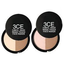 2 color bronzers highlighters for face makeup bronzer and highlighter powder contour palette sleek Makeup Illuminators glow kit