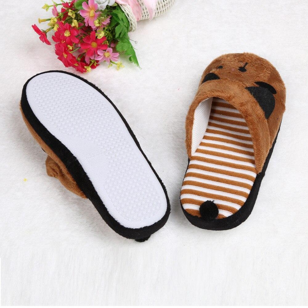6ec61d536 Lovely Cartoon Panda Home Floor Soft Stripe Slippers Female Shoes Cartoon  Home Shoes Soft Warm Slippers
