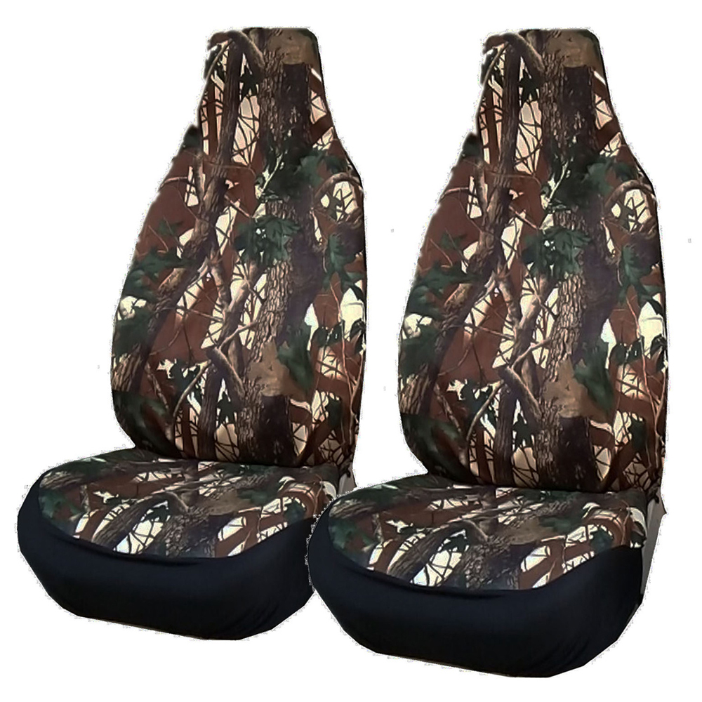 2 Front Camouflage Car Seat Cover Universal Suitable For Pickup Truck Jeep SUV Vehicle, Etc. / Auto Interior Accessories
