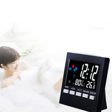 ЖК-дисплей Экран Температура часы радио Восход дом ребенка таблице электронные светодиодные Wall цифровой Погода Будильник стол цифровые часы
