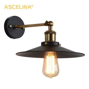 ASCELINA Loft Duvar Lambası aplik duvar ışıkları ev Endüstriyel Vintage led yatak odası ışık yukarı aşağı aydınlatma merdiven E27 85 -260 V
