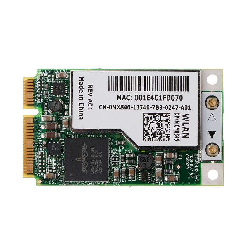 BCM94321MC BCM4321 DW1505 Mini PCI-e Wireless WLAN Wifi Card MX846 GP53 NJ449-PC Friend