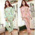 Minions Arropa a Las Mujeres 2015 de Las Mujeres Pijamas de Manga Larga Pijama Pijama Niña Pijama Femme Ropa de Hogar Mujeres Pijama Establece Además tamaño