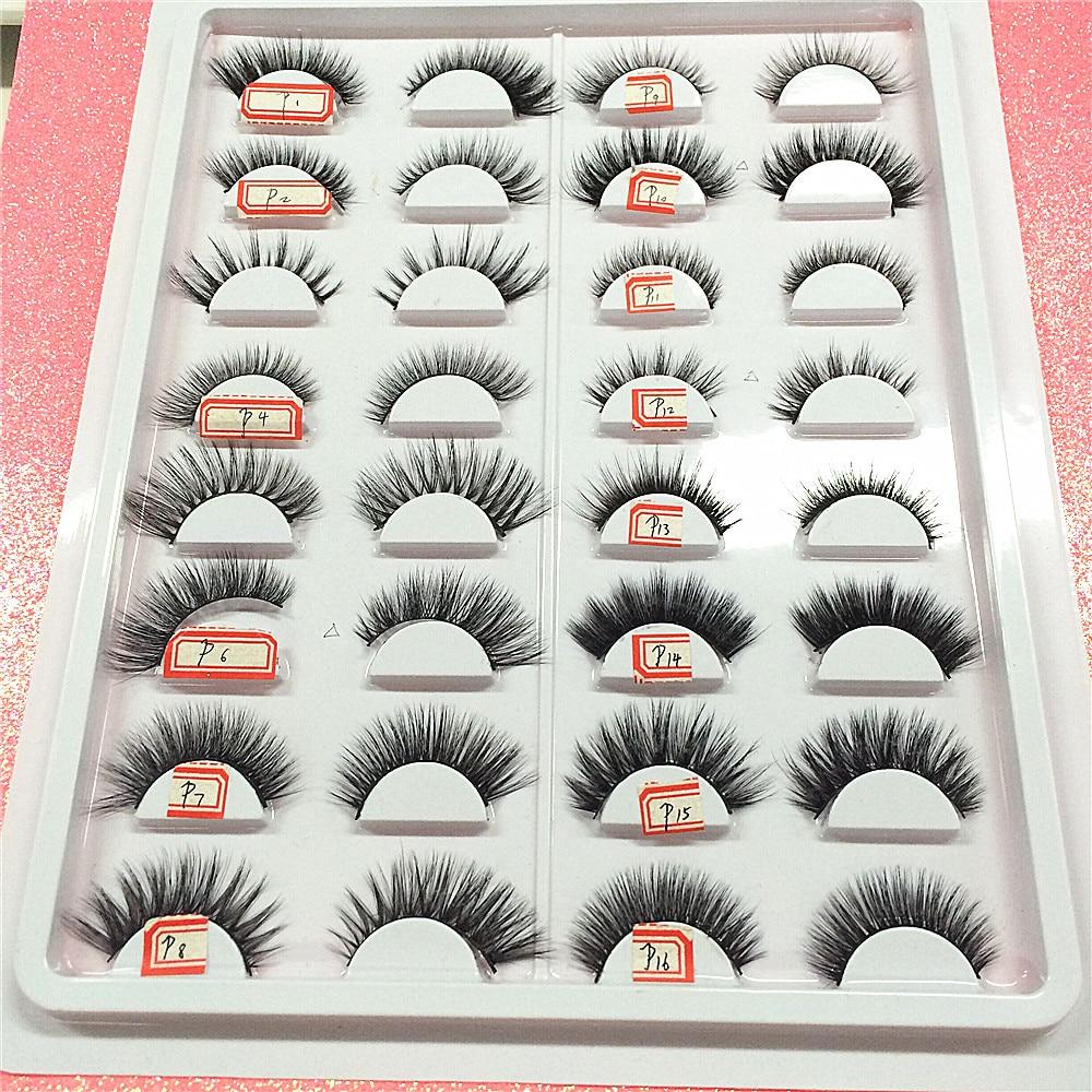 Top Mink Lashes 3D Mink Eyelashes Handmade Natural High Quality Free Shipping False Eyelashes Extension Fake Lashes for Makeup