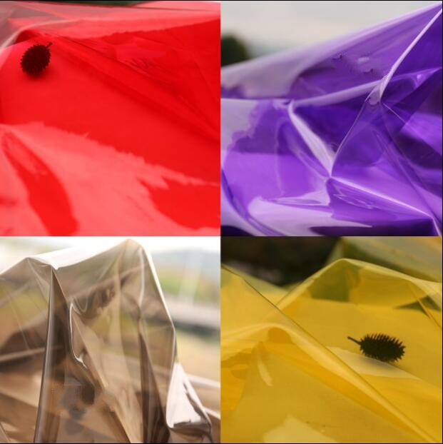 0 2mm Transparent mirror reflective raincoat pvc film plastic leather waterproof clothing tpu fabric diy textiles fabric C561 in Fabric from Home Garden