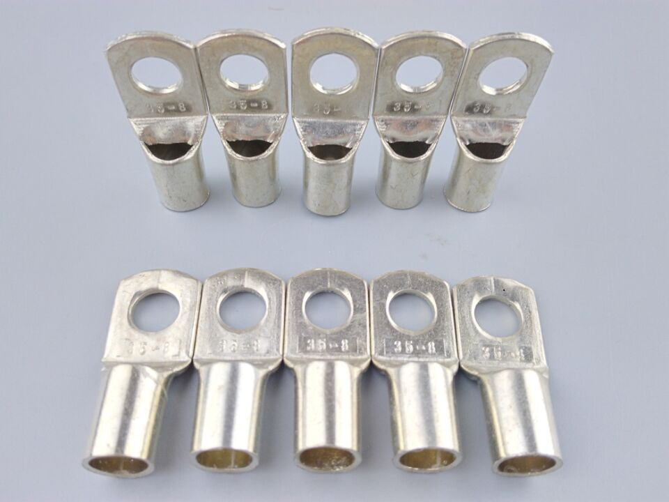 SC 35-8 Bolt Hole Tinned Copper Cable lugs Battery Terminals 35mm wire dt35 copper wiring copper nose copper lugs cable