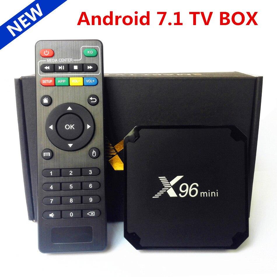 Оригинальный X96 Мини Android 7,1 ТВ BOX Amlogic S905W 4 ядра 2 ГБ 16 ГБ H.265 UHD 4 К 2,4 ГГц wi-Fi X96mini медиаплеер телеприставку
