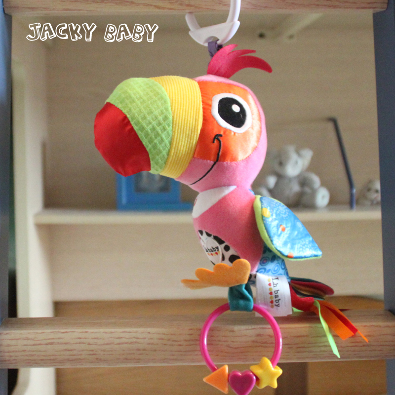 Baby Rattles Mobiles Educational Baby Toys Plush Parrot Toddler Toys Brinquedos Para Bebe Pelucia Bebe Baby Stroller Toys