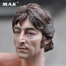 1/6 Head John Lennon's Headplay Sculpt KM18-10 1/6 Europe Man Head Male Figure Head 12 Action Figure Collection Toys Gift 1 6 scale kobe head sculpt basketball star head carving model toys sotoys so 13