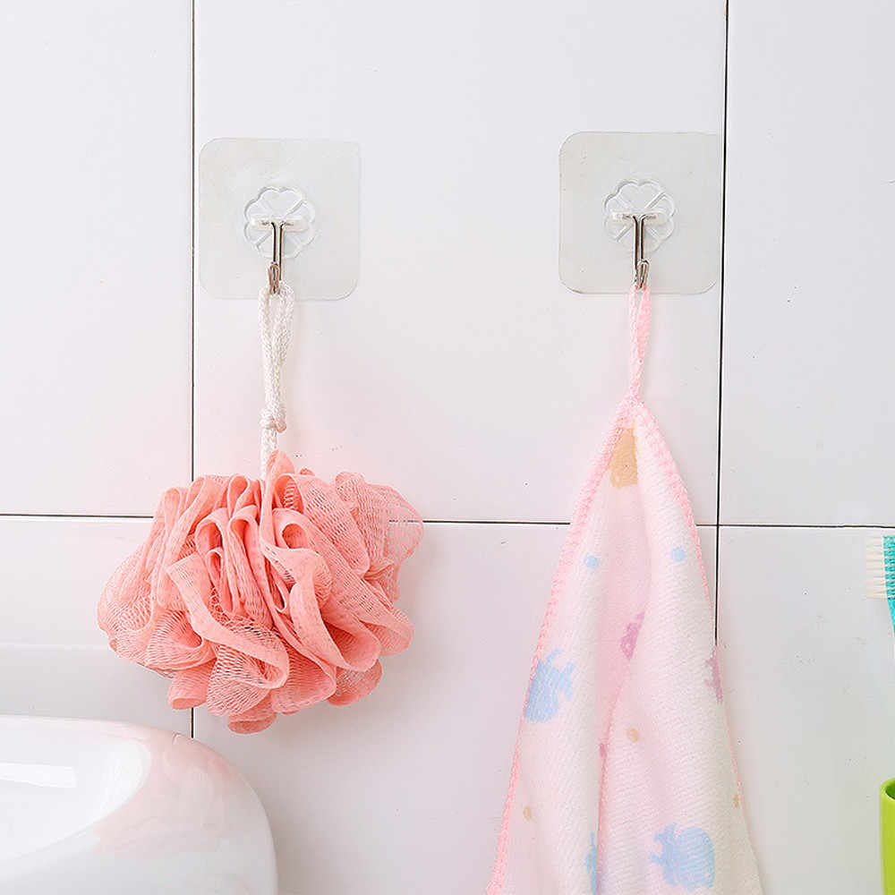 1/2 fuerte transparente ventosa pared ganchos percha para cocina baño ganchillo llavero pared crochet salle de bain
