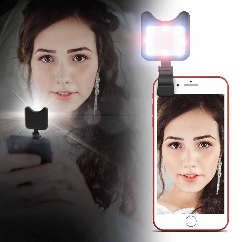 APEXEL Rechargeable USB Charge with battery charging Selfie Portable LED Ring Fill Light Camera for iPhone 8plus 7 Android phone