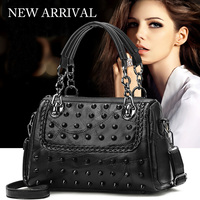Genuine Leather Bag Female Sac a Main Femme de Marque Luxe Cuir 2019 Black Brand Tote Bags for Shoulder Crossbody Women Handbags