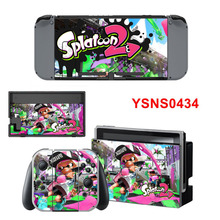 Splatoon Protective Cover Skin Sticker For Ninetendo Switch Console & Gamepad Sticker