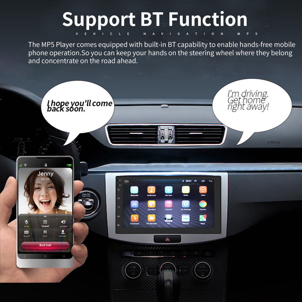 7 Inch HD Radio WIFI Car Stereo Online Bluetooth Voice Control Multimedia Touch Screen Quad Core MP5 Player GPS Navigation7 Inch HD Radio WIFI Car Stereo Online Bluetooth Voice Control Multimedia Touch Screen Quad Core MP5 Player GPS Navigation