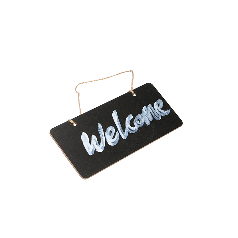 Wooden Mini Blackboard Welcome Plate Chalkboard Message Sign With Hang String Wedding Party Decoration Marriage Supplies 18*8cm