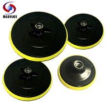 RIJILEI 3/4/5/6/7inch Backing Pad Polishing Buffing Plate Hook&Loop Backer Marble self-adhesive Rubber HF