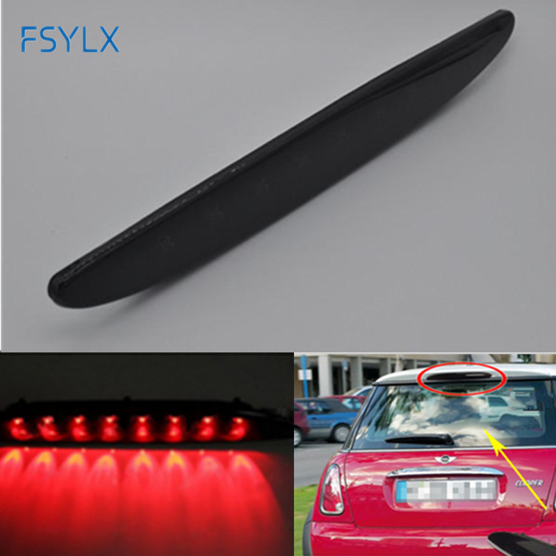 US $32 3 15% OFF|FSYLX Third brake light for bmw mini R53 Smoked Lens  Brilliant Red 8LED High Mount Third 3rd Brake Light For MINI Cooper R50  R53-in