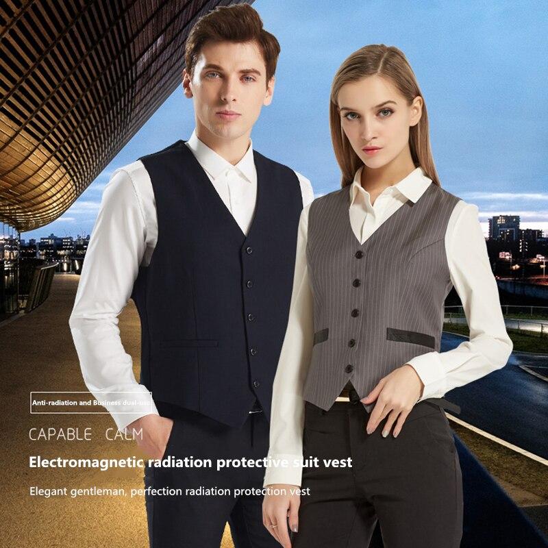 Ajiacn véritable gilet de protection contre les rayonnements électromagnétiques EMF blindage anti-rayonnement hommes et femmes style costume gilet