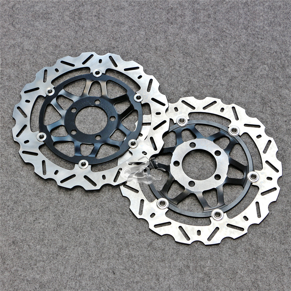Floating Front Brake Disc Rotor For Motorcycle Kawasaki Ninja ZX-6R 1998-2002 ZX600 636cc wotefusi 1 piece motorcycle front brake rotor disc for kawasaki ninja 250 2013 2015 2014 [pa196]