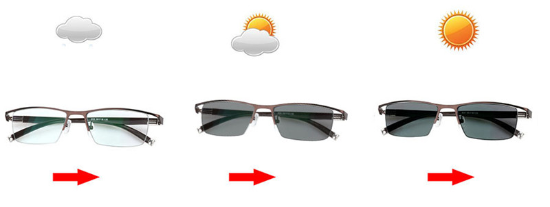 Image 4 - Myopia Sunglasses Photochromic Finished Men Women Myopia Eyeglasses Frame with color lens Sun glasses Myopia Eyewear  1.0  1.5-in Men's Eyewear Frames from Apparel Accessories on AliExpress