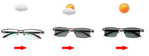 Image 4 - Myopia Sunglasses Photochromic Finished Men Women Myopia Eyeglasses Frame with color lens Sun glasses Myopia Eyewear  1.0  1.5