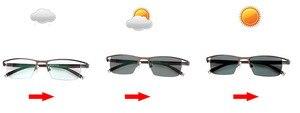 Image 4 - Myopie lunettes de soleil photochromiques, finition, monture, avec lentille de couleur, pour hommes et femmes, lunettes myopes 1.0  1.5