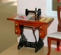1 12 MINI Dollhouse Furniture Classic Sewing Machine DIY Doll House Model Mini Craft Classic