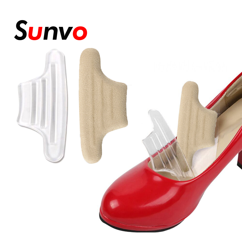 Sunvo Silicone Gel Heel Back Pads For High Heels Shoes Cushion Liner Grips Prevent Blister Foot Pain Relief Insoles Inserts Pad