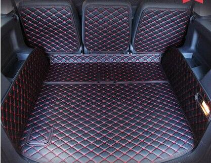 haute qualite tapis de coffre speciales pour volkswagen touran 2014 2008 etanche en cuir tapis de voiture pour vw touran 2015 livraison gratuite