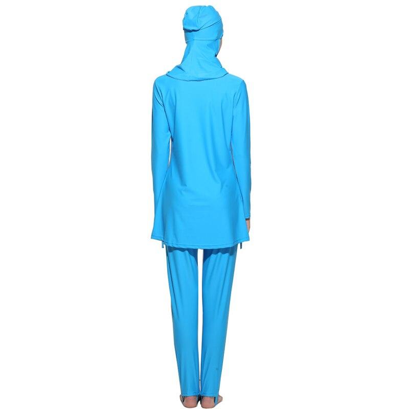 YONGSEN Plus Size Muslim Swimwear Women Islamic Swimsuit Long Sleeves Conservative Burkinis Bathing Modest Detachable Hijab in Muslim Swimwear from Sports Entertainment