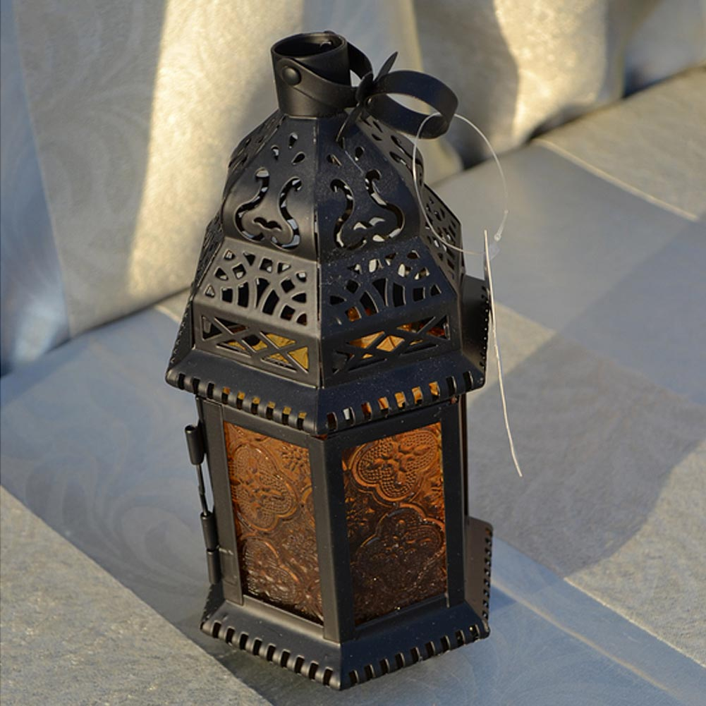 Glass Metal Moroccan Delight Garden <font><b>Candle</b></font> Holder Table/hanging Lantern for Christmas Festivities Parties Weddings