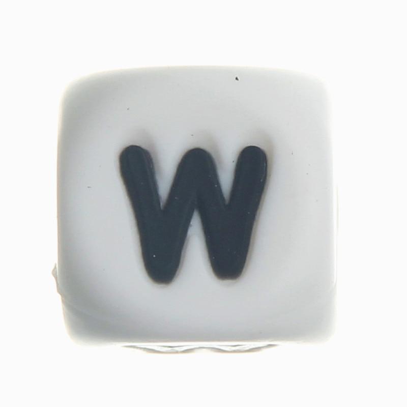 20 Pcs Silicone Alphabet Lettre W Chewing Perles de Qualité Alimentaire  SANS BPA FDA Bébé de Dentition Collier   Sucette Clip Silicone Perles af9a1febffd0