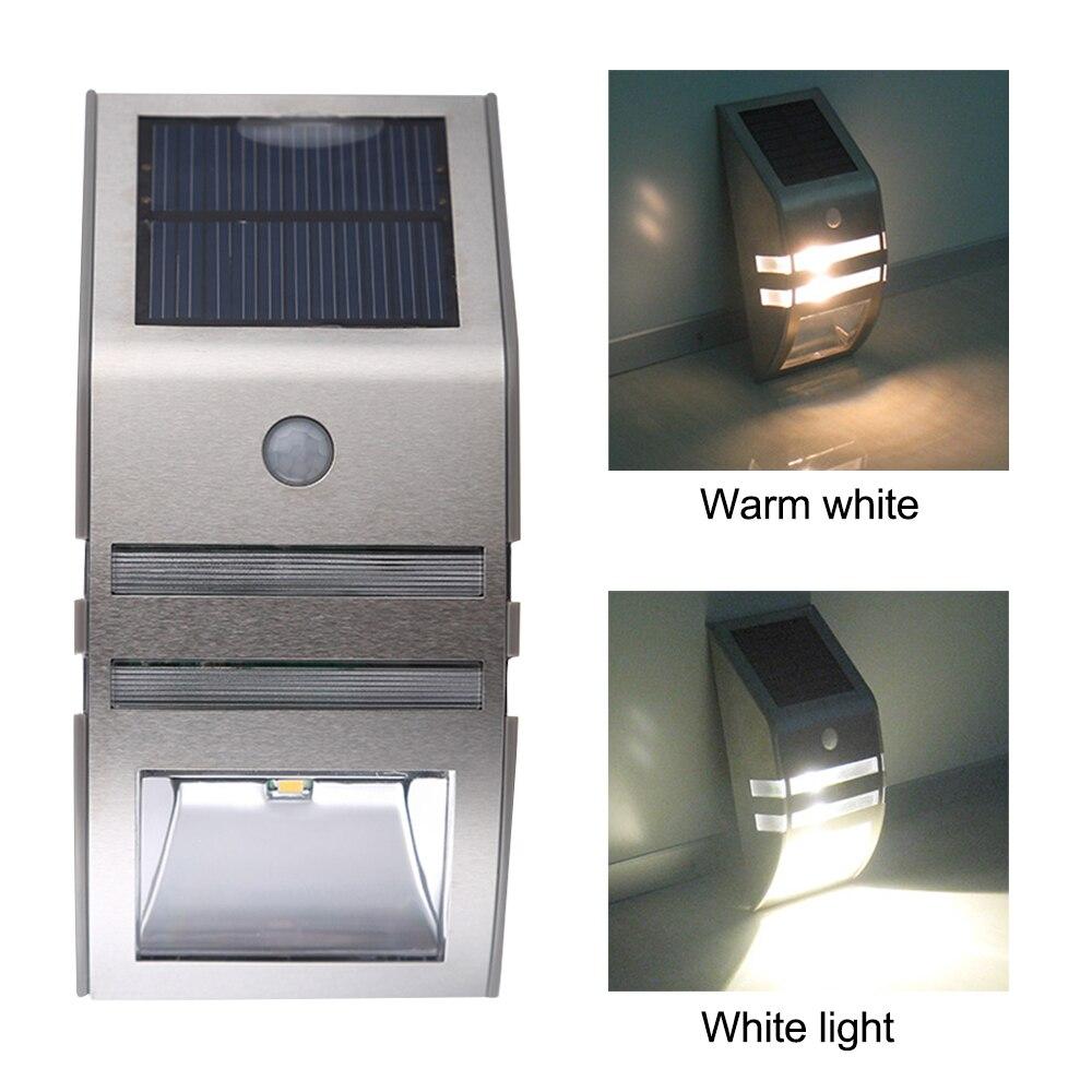 Licht & Beleuchtung Gerade Led Solar Licht Outdoor Pir Motion Sensor Für Garten Wasserdichte Edelstahl Solar Sensor Wand Licht Notfall Nacht Lampe SchnäPpchenverkauf Zum Jahresende