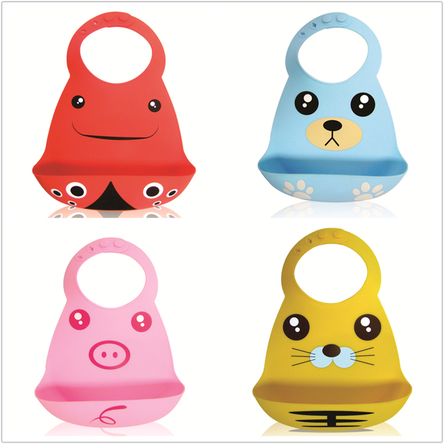 Lion Bear 6-18 Months 100% Silicone Baby Bib Saliva Towel Feeding Food Catcher Soft Waterproof Roll Up Easy To Clean For Unisex