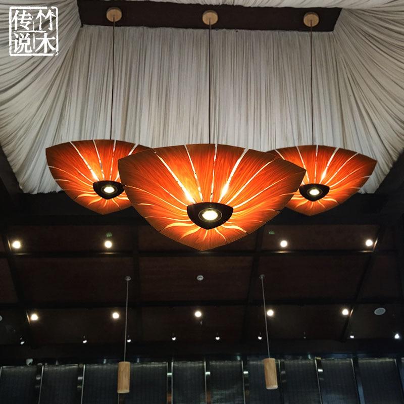 Bambus Sdostasiatischen Restaurant Furnier Schlafzimmer Lampen Chinesischen Inn Villa Kreative Kunst Pendelleuchten