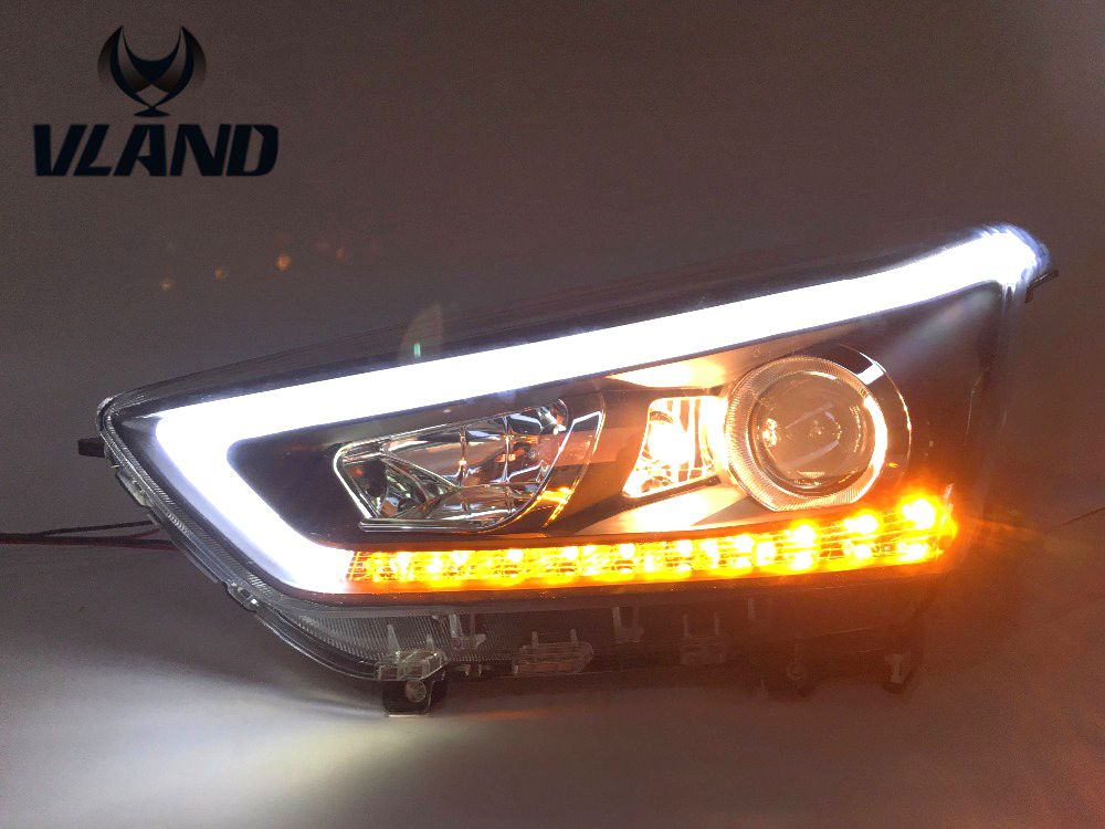 Free shipping Vland Car Styling Head Lamp for Hyundai IX25 Headlights 2015 2016 Creta LED Headlight DRL Daytime Running Light free shipping leather car floor mat carpet rug for hyundai ix25 creta only for left steering wheel car