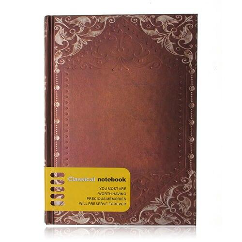 SOSW Retro Vintage Personal Notebook Diary Journal Organiser Book School Office Use Dark brown