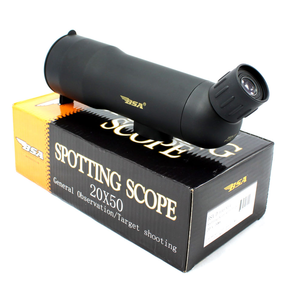 High Quality BSA <font><b>20X50</b></font> <font><b>Monocular</b></font> Telescope Night Vision Telescopic With Tripod Spotting Scopes corner viewing Birding hunting image