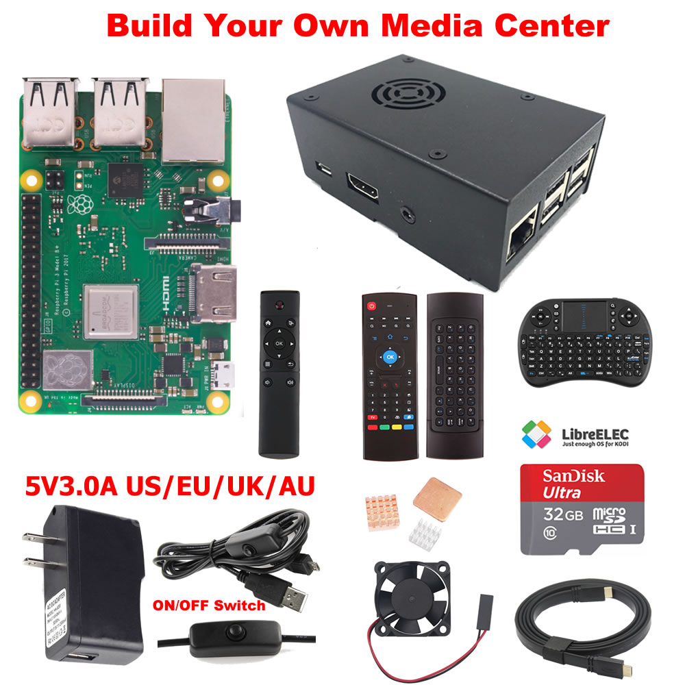 US $42 99 |Raspberry Pi 3 Model B+ B Plus Media Center Kit-in Demo Board  from Computer & Office on Aliexpress com | Alibaba Group